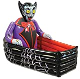 """Beistle Novelty Inflatable Vampire and Coffin Happy Halloween Drink Cooler Party Beverage Holder, Multicolored, 42"""" x 30"""", 42"""" x 30"""""""