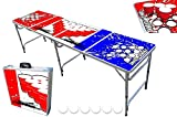 8-Foot Professional Beer Pong Table w/ Cup Holes - Beer Pong Edition
