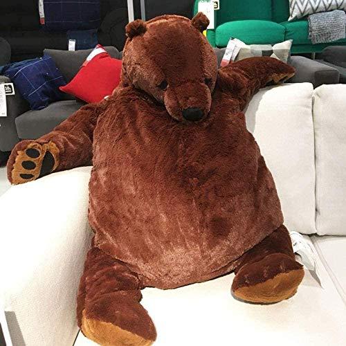 N/D 100cm Giant Simulation Bear Toy Plush Toy Stuffed Animal Doll Lifelike DJUNGELSKOG Home Decor Birthday Gift for Kid Bear About 100cm