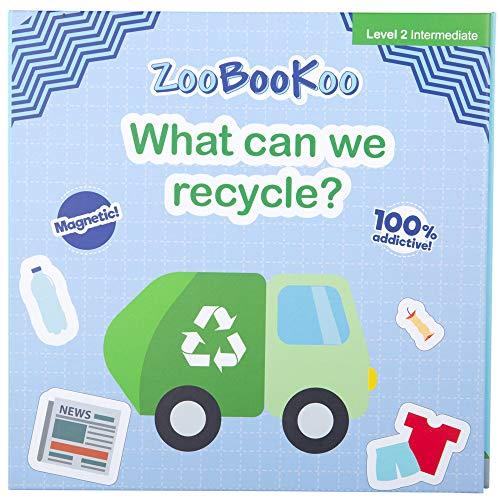 ZooBooKoo Libro de imán educativo - ¿Qué podemos reciclar?