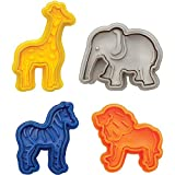 MRMRMNR Baking Anderson's Cracker Cookie Cutters, 3D Three-Dimensional Pressing Cartoon Animal Biscuit Mold Home Bun Cookie Cutter Abrasive Baking Tool
