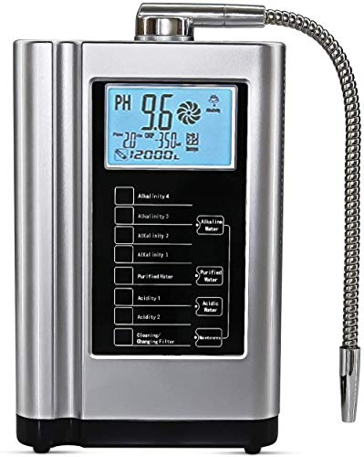 AquaGreen Alkaline Water Ionizer Machine Ag7.0, Water Purifier System for Home Use, Produce PH3.5-10.5 Water, Up to -500mV ORP, 6000 Liters Per Filter, 7 Water Settings, Auto-Cleaning, Silver