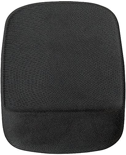 STAPLES 24339943 Mouse Pad with Gel Wrist Rest Black (53326)