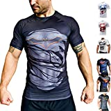 Khroom T-Shirt de Compression de Super-héros pour Homme | Vêtement Sportif à Séchage Rapide pour Fitness, Gym, Course, Musculation | Matériel Anti Transpiration (Batman II, M)