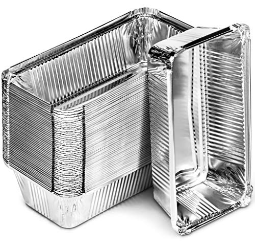 DecorRack 30 Bread Loaf Pans 8.5 x 4.5 Inch Aluminum Foil Pans Food Storage Container, For Cooking, Baking, Storing, Meal Prep Homemade Bread Pans (30 Pack)