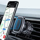 MagneticPhoneCarMount, LISEN [Upgraded Hook CLAMP] Phone Mount for Car, [6 Strong Magnets] Car