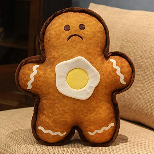 30-50cmcartoon Gingerbread Man Super Soft Stuffed Animal Plush Toys & Colgante Pillow Girls Sofa Decoration 40cm Brown