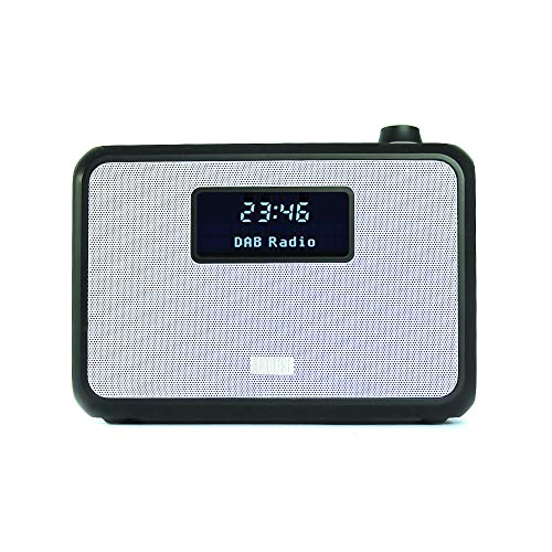 August MB400 - DAB Radio und Bluetooth NFC Lautsprecher (schwarz)