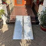Lqdp Rampas Rampa para Puerta de aleación de Aluminio Resistente, rampa Plegable portátil con Juego Completo de Accesorios, rampa Blanca para acera/Muelle de Carga (Size : 180×72×5cm/70.9×27.6×2in)