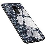 Galaxy S9 ケース 全面保護カバー レンズ保護 SAMSUNG サムスン ギャラクシー S9 薄型 傷防止 背面硬化ガラス 薄型 ワイヤレス充電対応 (Univo Color) SC-02K SCV38 専用カバー(12,ブラック)