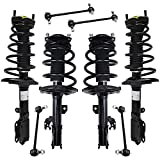 Detroit Axle - Front and Rear Strut w/Coil Spring Assembly Sway Bar Links Replacement for 2007-2011...