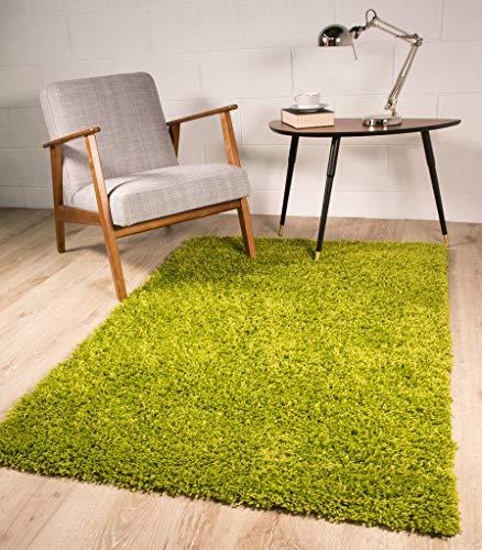 The Rug House kräftig Vert Doux Coffret zotteliger Tapis 5 Tailles Disponible 110 cm x 160 cm
