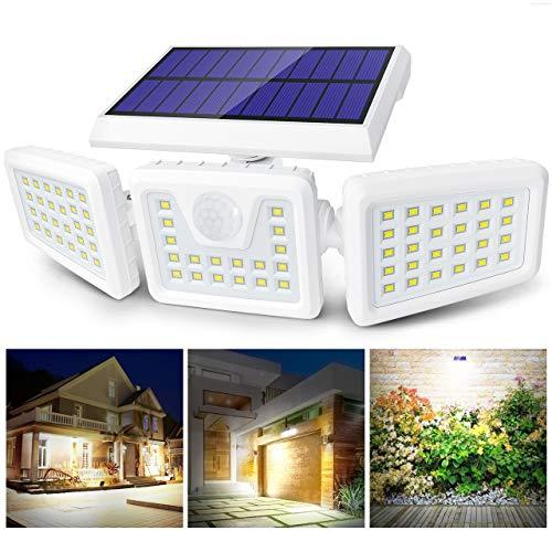 Claoner Luz Solar Exterior, 70 LED Foco Solar con Sensor de