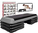 Step professionel XXL - Fitness, Aérobic, Cardio-training / 3 niveaux réglables...