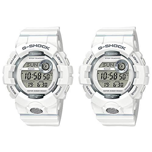 [カシオ]CASIO G-SHOCK Gショック ジーショック ペアウォッチ 同じサイズ 2本セット シェア G-SQUAD ジー・スクワッド デジタル モバイルリンク機能 歩数計 スポーツ ウォーキング ランニング ジョギング 白 ホワイト 海外モデル GBD-800-7GBD-800-7 腕時計 [並行輸入品]
