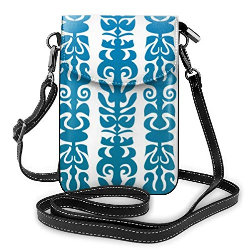 Goxegag - Cartera de piel multifuncional, ligera, con correa ajustable, para mujer, color azul celta