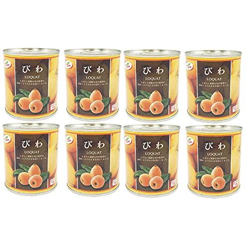 びわ缶詰 300g×8缶 ビワ シロップ漬け 枇杷 まとめ買い 業務用 缶詰め かんづめ フルーツ