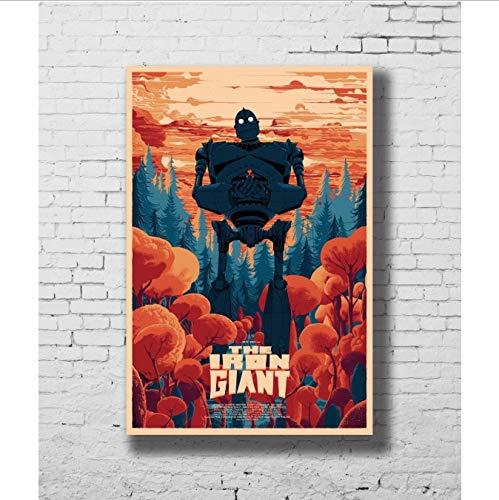 yhnjikl Manifesti e Stampe Film di Fumetti Classici Combatti Il Gigante di Ferro Hot Art Poster Tela Pittura Home Decor 40X60Cm Senza Cornice