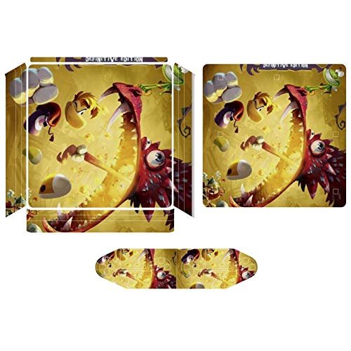 Ray-Man Leg-Ends PS4 pro Sticker, Playstation 4 pro Console Controller Skin Sticker, Exquisite Protective Cover