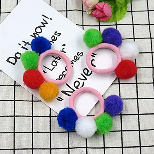 XKMY 1 cinta elástica para el pelo para niñas con dibujos animados para el pelo de color amarillo, tamaño: 1 pieza de color al azar