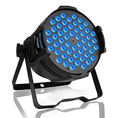 Betopper DJ Par Stage Lights LED Uplights 54x3W RGB Wash Light DMX Lighting for Wedding,Church,Party,Music Live Show,Club etc.