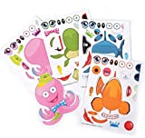 Rhode Island Novelty Make-a-Sea Life Sticker Sheets 12 Sheets Per Order
