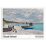 laminas para cuadrosArte de pared de velero junto al mar Poster de exposición de Claude Monet pintur...