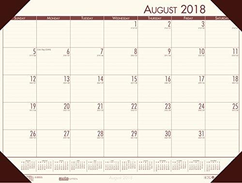 House of Doolittle 2018-2019 Academic Desk Pad Calendar, EcoTones, Cream, 18.5 x 13 Inches, August - July (HOD012541-19)