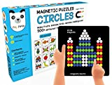 Play Panda Magnetic Puzzles : Circles with 250 Colorful Magnets, Magnetic Board, 100 Puzzles and Display Stand
