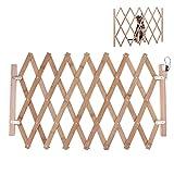 Riosupply Barrera de Seguridad Plegable para Mascotas,Puertas para bebés, Puerta de Escalera para Perros, Puerta de Seguridad Extensible(L-82cm de Altura)