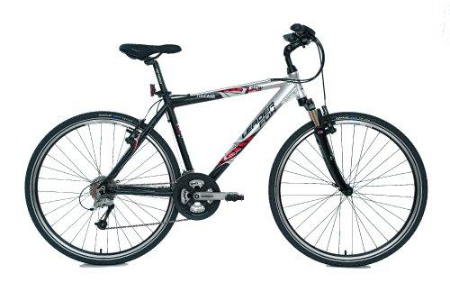 Bicicleta de montaña para hombre, marco de aluminio plateado y negro, peso 13,9 kg, 24 velocidades, horquilla delantera RST – Ref 'TOSCANA' 2011