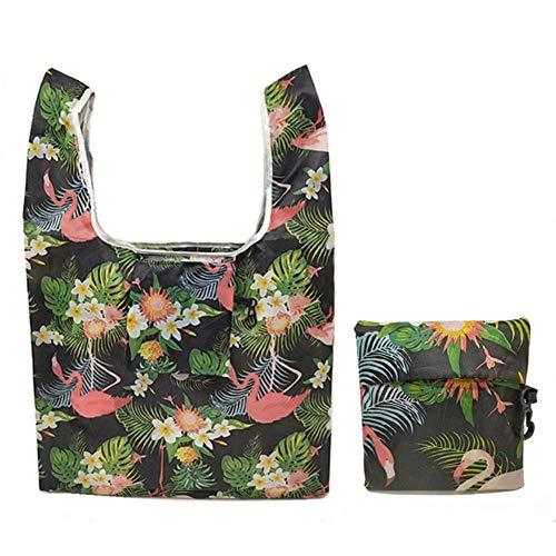 Zipvb Aufbewahrungskörbe Faltbare Plastik-Einkaufstasche, die Wiederverwendbare Einkaufstaschen faltet