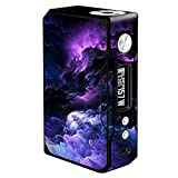 Skin Decal Vinyl Wrap Voopoo Drag 157W TC Resin/Reg. Vape Mod Stickers Skins Cover/Purple Storm Clouds