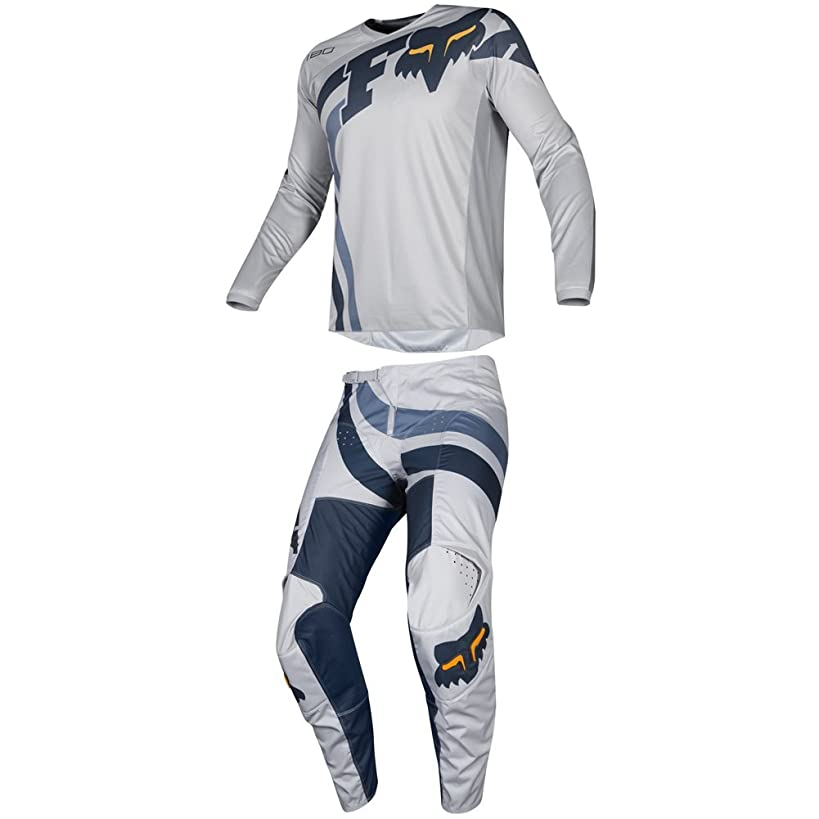 Fox Racing 2019 180 COTA Jersey and Pants Combo Offroad Gear Set Adult Mens Gray/Navy Large Jersey/Pants 32W