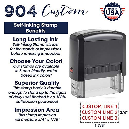 Custom Stamp - 20 Font Options - Self-Inking Address Stamp - Up to 3 Lines Photo #4