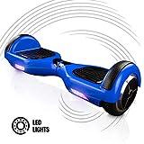 ACBK - Patinete Eléctrico Hover Autoequilibrio Basic con Ruedas de 6.5' (Luces LED integradas) Velocidad máxima: 10-12 km/h - Autonomía 10-20 km - Carga soportada: 20-100kg (Azul)