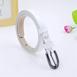 Women Belts Soft Leather with Pin Buckle Belt Ladies Leather Belt (Color : White)