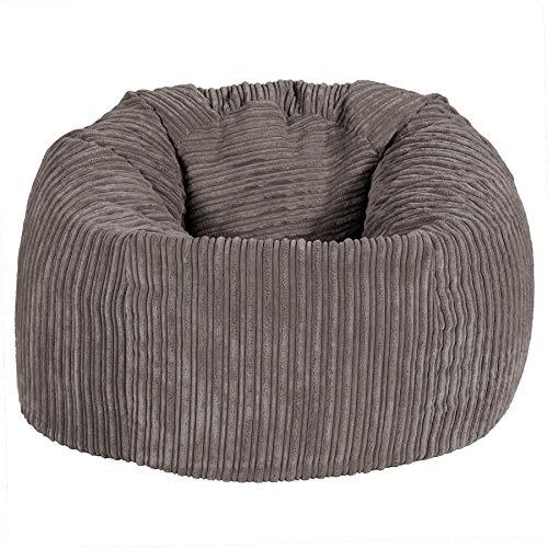 Lounge Pug, Klassischer Sitzsack Sessel, Cord - Schiefergrau