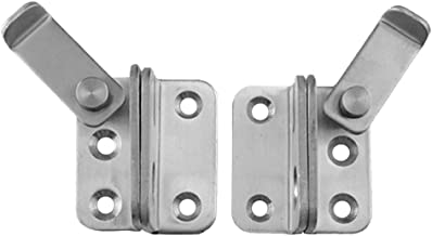 HOMYL 2pcs Slide Bolt Latch Gate Latches Safety Door Lock 40x45mm Stainless Steel Brushed Finish with Padlock Hole