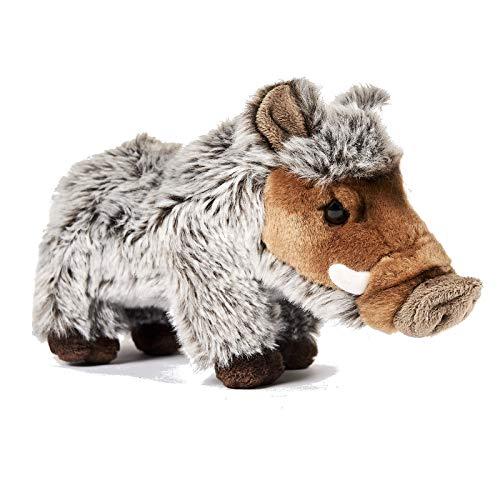 Uni-Toys Plüsch Wildschwein, Schwarzwild, Keiler, Eber Mehrfarbig stehend - Stofftier, Plüschtier, Kuscheltier, Waldtiere ca 24 cm
