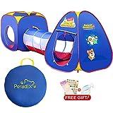 Peradix Tente de Jeu et Tunnel 3 en 1 Pop Up Tente pour Enfant et bébé Tente de...