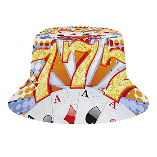 Indimization Uomo Estate Pescatore Cappelli Donne Stampa Pieghevole Esterno Cappellino Fiches per Poker 56