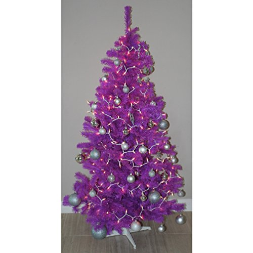 Homegear 6FT Artificial Purple Christmas Tree Xmas Decoration