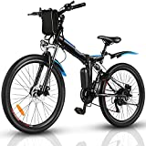 Electric Bike for Adults, 26'' Folding Electric Mountain Bike with Removable 36V 8AH Lithium-Ion Battery, 250W Motor Electric Bike, E-Bike with 21 Speed Gear and Three Working Modes