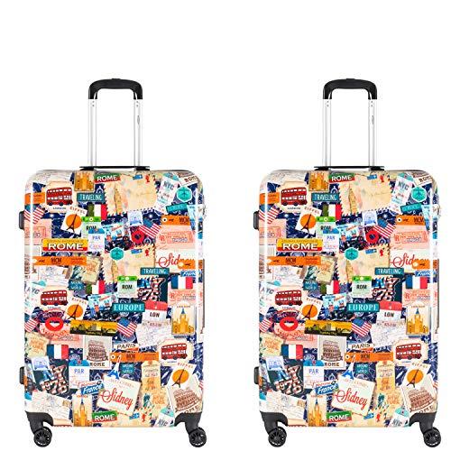 Flight Knight 55x35x25cm koffer met harde koffer Bedrukte bagage geschikt voor easyJet, KLM, Ryanair, 8 wielen