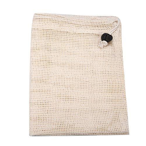 Bolsos reutilizables de la producción de la malla del algodón, bolso de compras reciclable de la verdura de la fruta del bolso de ultramarinos con el lazo(S)