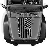 YueWan Etiqueta engomada impermeable de la cubierta del motor de la bandera americana del vinilo de la capucha del coche para Jeep Wrangler JK TJ YJ