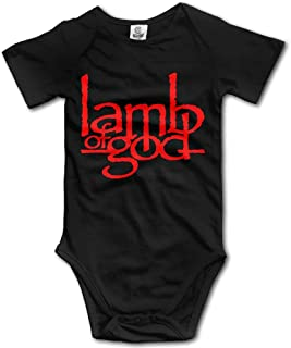 PWEIZS Fashion Baby Onesie Cotton Lamb of God John Campbell Heavy Metal Band Romper Jumpsuit 0-3M