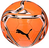 PUMA teamFINAL 21.6 MS Ball Ballon De Foot Unisex-Adult, Shocking Orange Black White Silver, 5