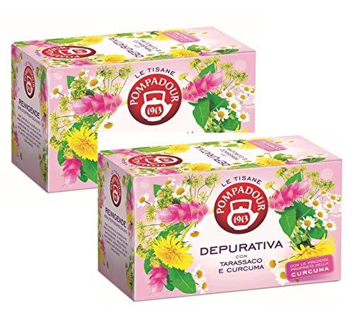 Tisane dépurative Pompadour 1913 au pissenlit et au curcuma - 2 x 18 sachets de thé (72 grammes)
